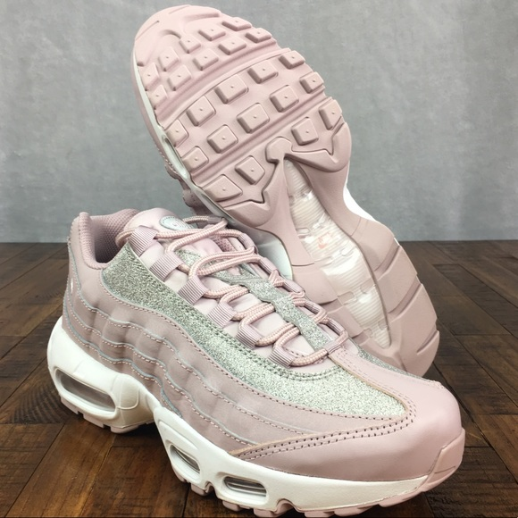 premium selection 51da5 9bc52 NEW Nike Air Max 95 SE GLITTER Shoes Particle Rose
